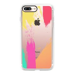 Colorful Abstract Paint Brush Stokes  - iPhone 7 Case, iPhone 7 Plus... (150 ILS) ❤ liked on Polyvore featuring accessories, tech accessories, iphone case, iphone cover case, apple iphone case and iphone cases