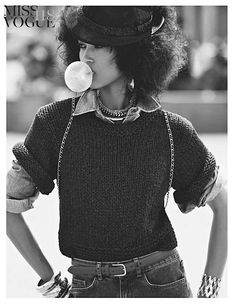 Pat Cleveland for Vogue Italia March 1981, Photo by Peter Lindbergh.