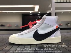 62cfb2c828b67 Virgil Abloh Nike X Off White Blazer Mid The 10 AA3832-102 White Black New  Year Deals