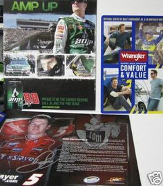 Autographed Earnhardt Jr. Photograph - Amp Taxslayer, & Wrangler Pics - Autographed NASCAR Photos by Sports Memorabilia. $58.17. DALE EARNHARDT JR. AMP, TAXSLAYER, & WRANGLER AUTOGRAPHED PICS. Save 14%!