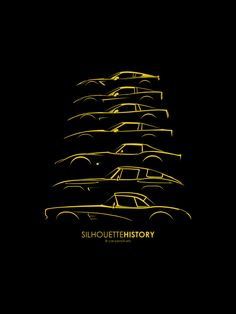 silhouettehistory | Chevrolet Corvette Car Silhouette, Corvette America, Cabriolet, Chevrolet Corvette, Chevy, American Muscle Cars, Fast Cars, Volkswagen, Toyota