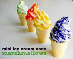 mini marshmallow ice cream cones....!