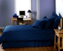 Blue Jean #Denim Cotton Bedding Ensemble - Boys do love their denim!  Available in True Blue or Indigo.  Need #dorm bedding? Get the Twin XL size for all the comforts of home!  Made in USA