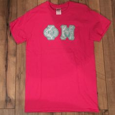Phi Mu T-Shirt Never worn. Hand stitched letters. Sparkly material on letters. Gildan Tops Tees - Short Sleeve