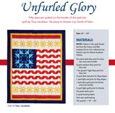 Unfurled Glory from Patriotic Quilts 2013. Quilt by Tony Jacobson.