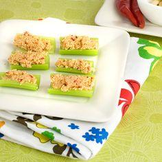 National Cashew Day   Celery Bites with Savoury Cashew Cheese