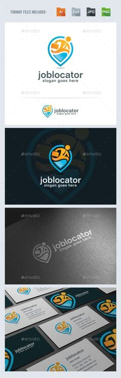 Job Locator Logo Template Vector EPS, AI. Download here: http://graphicriver.net/item/job-locator-logo-template/15053570?ref=ksioks