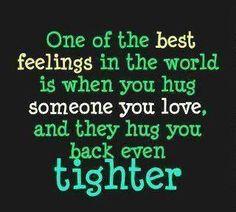 hugs. Love when that happens :)