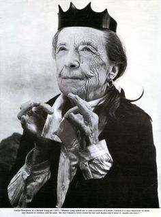 French artist, Louise Bourgeois, in a Helmut Lang ad,1997. (Dec.25, 1911-May 31, 2010)