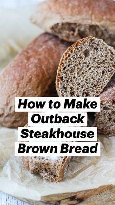 Bread Maker Recipes, Healthy Bread Recipes, Best Bread Recipe, Baking Recipes, Brown Bread, Bread Bun, Biscuit Recipe, Restaurant Recipes, Bread Baking