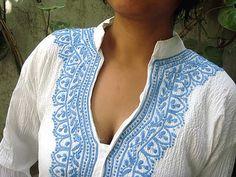 White dress women's tunics Indian ethnic clothing kurta pattern salwar kameez bohemian hippie clothes free gift with every purchase