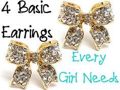 4 Basic Earrings Every Girly, Girl Need.