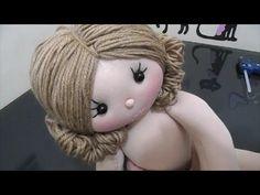 Penteado de boneca de pano/Cabelinho de boneca - YouTube