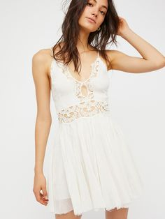 FP One White FP One Coast to Cove Mini Dress at Free People Clothing Boutique