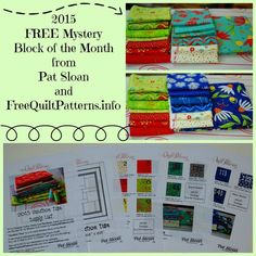 Pat Sloan FREE Mystery Block of the Month(BOM)! It's called VACATION TIME ...