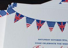 Flags-detail - Nautical Wedding in Letterpress