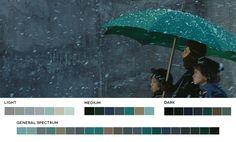 Un site web estafa Fotogramas de Peliculas y soste paletas de colores correspondientes. Una PROMOVER Herramienta Para El Aprendizaje y la inspiración ...