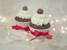 Mörka chokladcupcakes