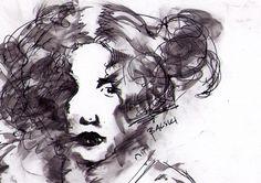 Portret dziewczyny - miniatura