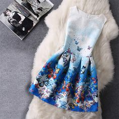 Cartoon Castle Summer Sleeveless Girls Print Dress Knee Length Princess A-Line Dress Clothes For Kids 6 to 12 years Old Kids – Women Best Deal