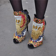 balmain sexy high heel ankle boots - street style