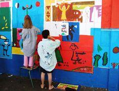 Matisse, Picasso, Klee inspired murals