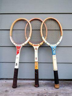 Vintage Wood Tennis Racket Mid Century Spalding Pancho Gonzales Champ, Regent…