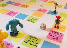 jeu de l'oie avec des post it Masking Tape Art, Board Games For Kids, Collage Making, Play Centre, Baby Sensory, Indoor Play, School Readiness, Disneyland Paris, Business For Kids