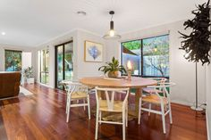 | RENOVATED HOME IN THE HEART OF MORNINGTON brought to you by Indigo Property Marketing #coastaldecor #rounddiningtable #floorboards Built In Robes, Alfresco Area, Central Kitchen, Timber Flooring, New Carpet, Round Dining Table, Investment Property, In The Heart, Coastal Decor