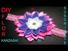 N°.:6 DIY Kanzanshi Lazo De Flor Con Petalos Para El Cabello - YouTube