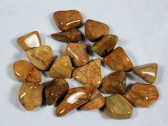 Tumbled Yellow Jasper These are large and nicely colored.