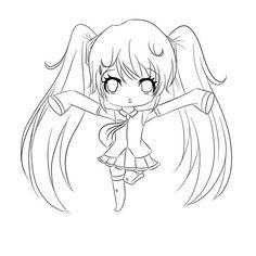 Amazing Chibi Drawing Coloring Page - NetArt