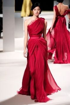 Ellie Saab - love the color and how the dress drapes!