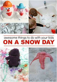 Really awesome snow day activities for kids so I am prepared and ready to go as soon as the first snowflake falls!