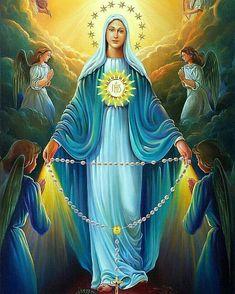 442 mejores imágenes de Virgen Maria y santos del cielo en 2020 ...