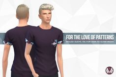 Simsational designs: For The Love of Patterns Tee • Sims 4 Downloads