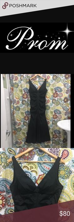 🖤 Formal Black Mermaid Dress 🖤 🖤 Elegant, black dress. Xscape by Joanna Chen. Mermaid style. Tulle lining under mermaid tail. Ruching along the torso gives dress a very flattering fit. Zipper in back. Can be worn to a wedding, prom or any formal event. LIKE NEW. MAKE AN OFFER!!! Xscape Dresses Wedding