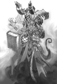 Darksiders, Vulgrim sketch by Joe Madureira