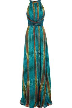 Issa Printed silk-blend georgette gown NET-A-PORTER.COM