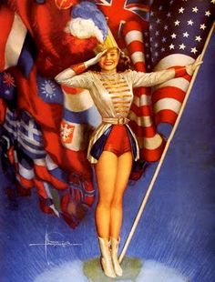 Independence Day (July 4, 1776) or Memorial  Day  (last Monday of May, Civil War) or Veteran's Day (November 11th, 1918):  Vintage postcard