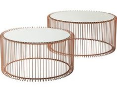 Kare Design :: Zestaw 2 Stolików Wire Cooper