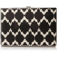 Ivanka Trump Ivanka Box Minaudiere Clutch ($65) ❤ liked on Polyvore featuring bags, handbags, clutches, ivanka trump handbags, chain strap purse, crossbody purse, crossbody handbags and ivanka trump purses