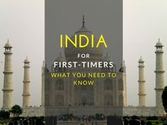 India For First-Timers