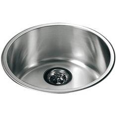 """16.5"""" x 16.5"""" Top Mount Round Single Bowl Kitchen Sink"""