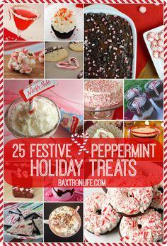 25 Festive Peppermint Holiday Treats