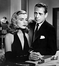 "LIZABETH SCOTT AND HUMPHREY BOGART in ""DEAD RECKONING"" (1947)"