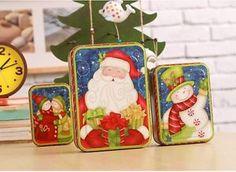 Zakka Santa Clause rectangle tea box creative jewelry box organizer festiv gift
