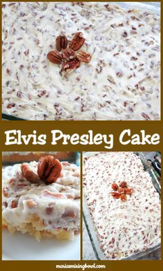 Elvis Presley Cake also know as Jailhouse Rock Cake is a family favorite. So simple and easy to make. Elvis Presley Cake also know as Jailhouse Rock Cake is a family favorite. So simple and easy to make. Potluck Recipes, Gourmet Recipes, Dessert Recipes, Kitchen Recipes, Copycat Recipes, Cake Mix Desserts, Easy Desserts, Rhubarb Desserts, Healthy Desserts