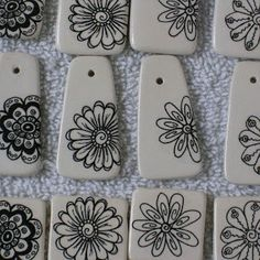 Marsha Neal Studio Blog: Blogging About Ceramic Decals Porcelain Jewelry, Ceramic Jewelry, Enamel Jewelry, Clay Jewelry, Jewelry Crafts, Jewellery Diy, Jewlery, Jewelry Bracelets, Necklaces