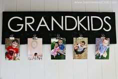 (craft tutorial) grandkids photo board cute idea for a gift